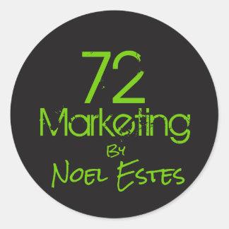 autocollant du logo 72marketing