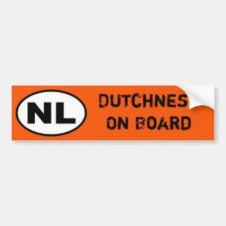 Autocollant du NL - Dutchness à bord