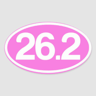 Autocollant du rose 26,2 (plein autocollant de