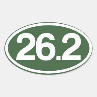 Autocollant du vert 26,2 (plein autocollant de