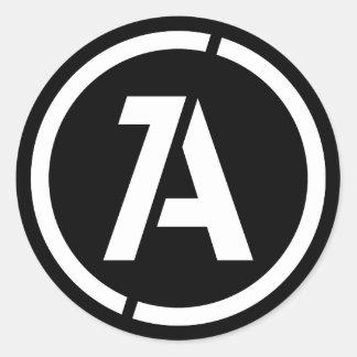 Autocollant dynamique de symbole d'anarchie