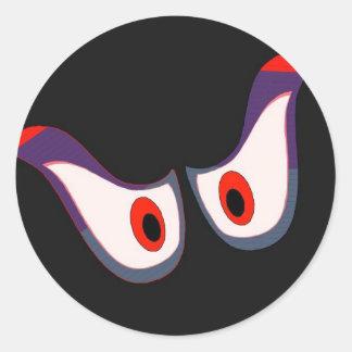 autocollant éffrayant de Halloween de yeux