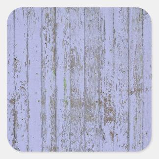 Autocollant en bois de carré de texture de Faux de