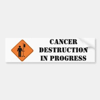 autocollant en cours de destruction de cancer autocollant pour voiture