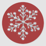 Autocollant en cristal de flocon de neige (rouge)