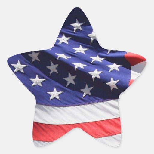 Autocollant en forme d'étoile de drapeau américain