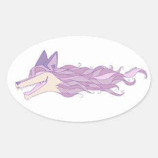 Autocollant en pastel vivant de Fox d'une manière