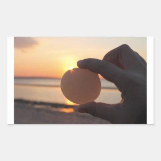 Autocollant en pierre de coucher du soleil de Sun
