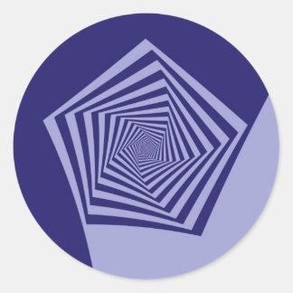 Autocollant en spirale de bleus du Pentagone