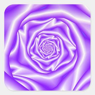 Autocollant en spirale rose de lilas