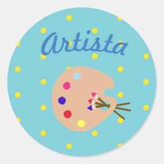 """Autocollant espagnol de """"Artista/artiste"""" avec la"""