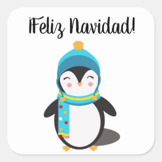 """Autocollant espagnol de """"Feliz Navidad"""" avec le"""