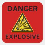 Autocollant explosif rouge de panneau