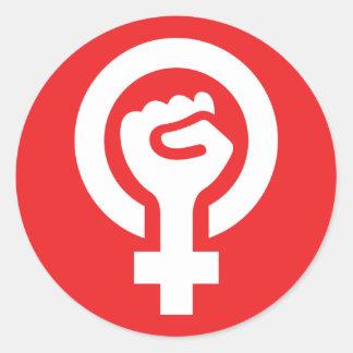 Autocollant féministe de symbole de puissance