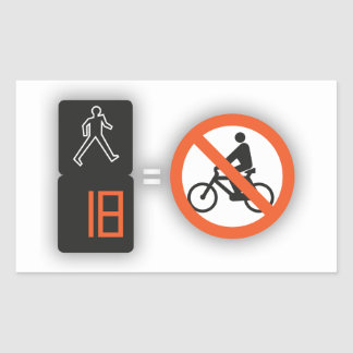 Autocollant Feu exclusif aux piétons, pas de vélos