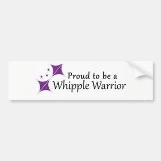 Autocollant fier d'être un guerrier de Whipple