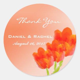 Autocollant floral de faveur de Merci de mariage