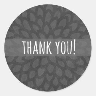 Autocollant floral du gris | | du Merci |