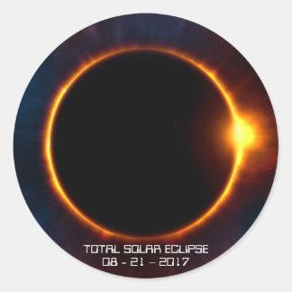 Autocollant foncé de l'éclipse 2017 solaire