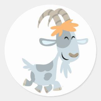 Autocollant frais mignon de chèvre de bande dessin