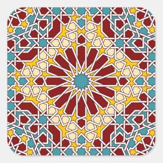 Autocollant géométrique islamique de motif