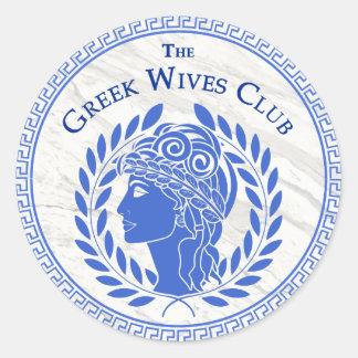 Autocollant grec de club d'épouses