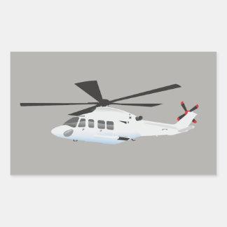 Autocollant gris d'hélicoptère