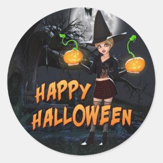 Autocollant heureux de Halloween Skye