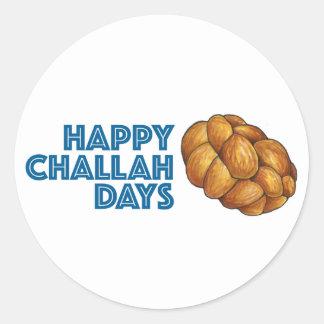 Autocollant heureux de pain de Hanoukka Chanukah
