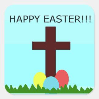 Autocollant heureux de Pâques
