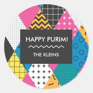 Autocollant heureux de Purim