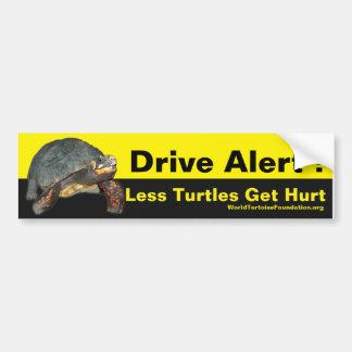 Autocollant heureux de voiture de tortue