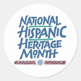 Autocollant hispanique national de mois d'héritage