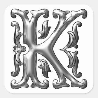 Lettre k autocollants stickers lettre k - K en majuscule ...