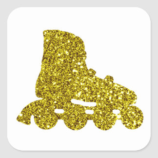 Autocollant intégré de patin d'or