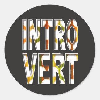 Autocollant interne introverti de la conception |