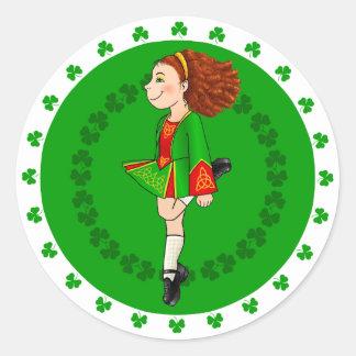 Autocollant irlandais de danse