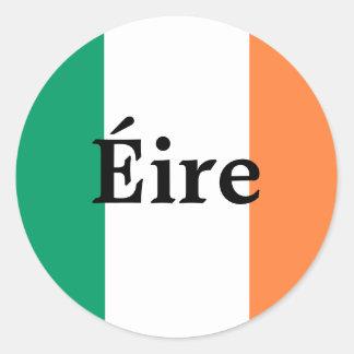 Autocollant irlandais de drapeau
