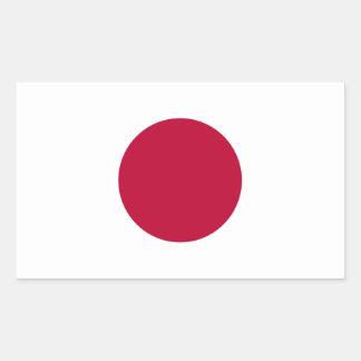 Autocollant japonais de drapeau