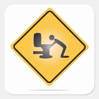 Autocollant jaune de panneau d'avertissement de