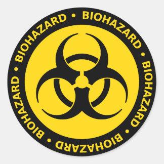 Autocollant jaune de symbole de Biohazard