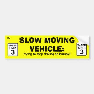 Autocollant lent de véhicule autocollant de voiture