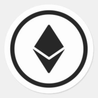 autocollant lisse de logo d'Ethereum-pièce de