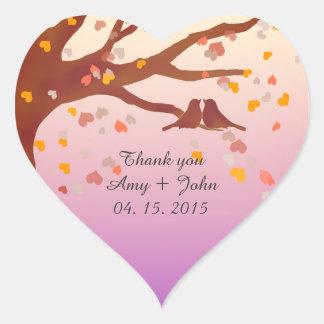 Autocollant love1 de confettis de coeur de