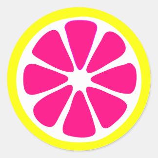 Autocollant lumineux de tranche de citron