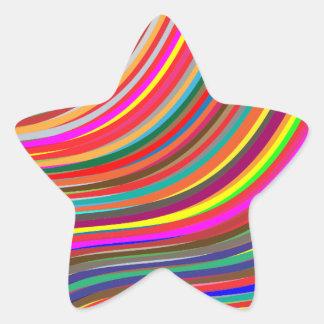 Autocollant lumineux d'étoile de couleur