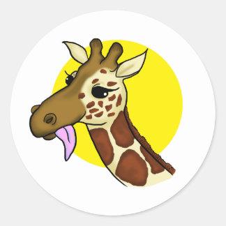 Autocollant majestueux de girafe