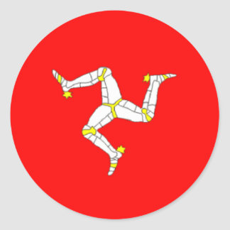 Autocollant mannois de drapeau