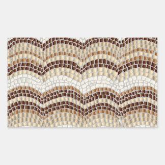 Autocollant mat de rectangle de mosaïque beige