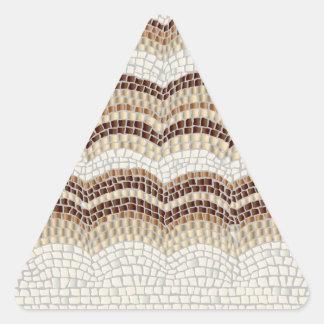 Autocollant mat de triangle de mosaïque beige